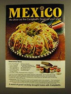 1979 Campbell's Soup Ad - Mexicanos Tacos Recipe