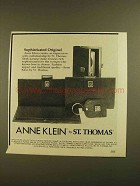 1979 Anne Klein St. Thomas Spectrum Collection Purse Ad