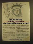 1979 American Electric Power Ad - Betting a Billion