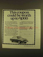 1979 Mercedes-Benz Cars Ad - This Coupon Could be Worth