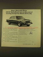 1979 Mercedes-Benz 300SD Turbodiesel Ad - Cut Cost