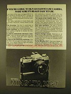1979 Minolta XG7 Camera Ad - Easy-to-Use