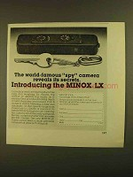 1979 Minox LX Camera Ad - World-famous Spy Camera