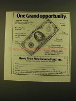 1979 Rowe Price New Income Fund Ad - Grand Opportunity