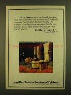 1979 Christian Brothers Brandy Ad - As a Dessert