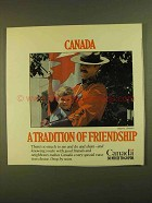 1979 Canada Tourism Ad - A Tradition of Friendship