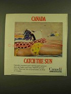 1979 Canada Tourism Ad - Catch the Sun