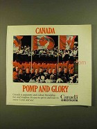 1979 Canada Tourism Ad - Pomp and Glory