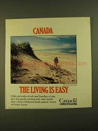 1979 Canada Tourism Ad - The Living is Easy