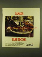 1979 Canada Tourism Ad - Take It Cool