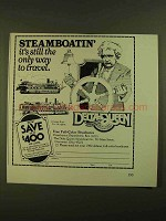 1979 Delta Queen Steamboat Ad - The Only Way to Travel