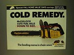 1979 McCulloch Chain Saw Ad - Cold Remedy