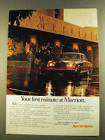1980 Marriott Hotels Ad - Your First Minute