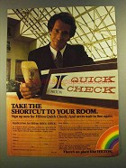 1980 Hilton Hotels Ad - Shortcut to Your room