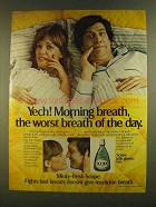 1980 Scope Mouthwash Ad - Yech! Morning Breath