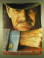 1980 De Beers diamonds Ad - Rhinestone Cowboy Not