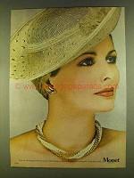 1980 Monet Champagne Collection Necklace & Earrings Ad