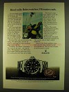 1980 Rolex Submariner Date Watch Ad - Frederick E. Hood