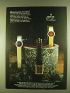 1980 Rolex Cellini Watches Ad - Renaissance Revisited