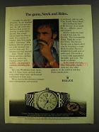 1980 Rolex Datejust Chronometer Ad - John Newcombe