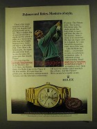 1980 Rolex Day-Date Chronometer Ad - Arnold Palmer