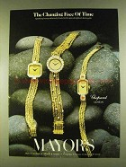 1980 Chopard Geneve Watches Ad - Changing Face of Time