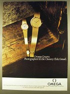 1980 Omega Quartz BL7918714 & BL3918649 Watch Ad
