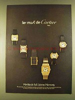 1980 les must de Cartier Watches Ad
