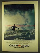1980 Ontario Canada Ad - Hit the High Spots