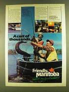1980 Manitoba Canada Ad - A Cast of Thousands