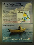 1980 Atlantic Canada Ad - A Far Away Feeling Next Door