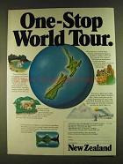 1980 New Zealand Government Tourist Office Ad