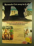 1980 Bermuda Tourism Ad - We Found a Cove