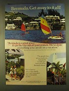 1980 Bermuda Tourism Ad - Get the City Out of System