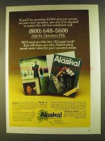 1980 Alaska Tourism Ad - If You'll Be Spending