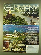 1980 Germany Tourism Ad - is Wunderbar