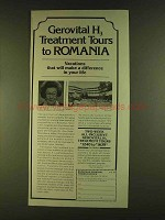 1980 Romanian National Tourist Office Ad - Gerovital