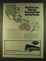 1980 The Gray Line Ad - Show You Asia, Orient, Pacific
