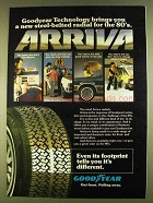 1980 Goodyear Arriva Radials Ad - Technology Brings You