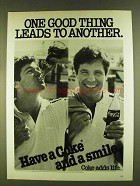 1980 Coca-Cola Soda Ad - One Good Thing Leads to