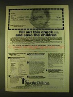 1980 Save the Children Ad - Fill Out this Check