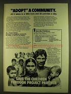 1980 Save the Children Ad - Adopt a Community
