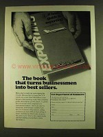 1980 U.S. Department of Commerce Ad - Best Sellers