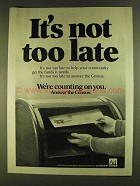 1980 Census of the United States Ad - It's Not Too Late