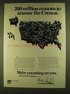 1980 Census of the United States Ad - Million Reasons
