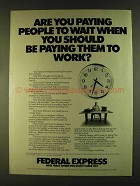 1980 Federal Express Ad - Are You Paying People