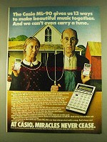 1980 Casio ML-90 Calculator Ad - Make Music Together