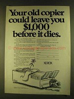 1980 Xerox Copiers Ad - Old Copier Could Leave $1000