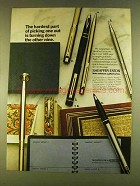 1980 Sheaffer Pens Ad - Hardest Part of Picking One