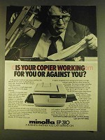 1980 Minolta EP 310 Copier Ad - Working For You